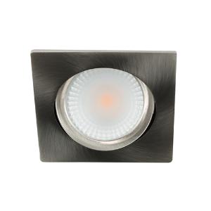LED spot kantelbaar 5Watt vierkant NIKKEL dimbaar D2-2