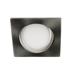 LED spot kantelbaar 5Watt vierkant NIKKEL dimbaar D3-2