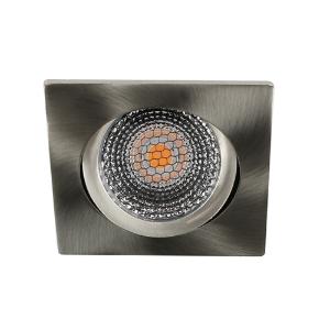 LED spot kantelbaar 5Watt vierkant NIKKEL dimbaar D5-2