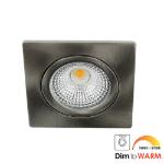 LED spot kantelbaar 5Watt vierkant NIKKEL dimbaar DTW-1