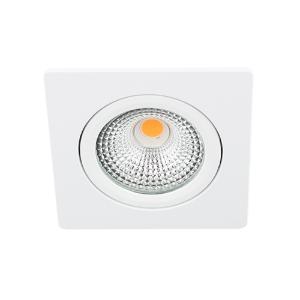 LED spot kantelbaar 5Watt vierkant WIT IP65 dimbaar D-1