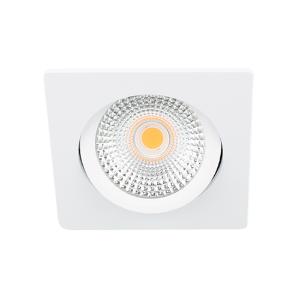 LED spot kantelbaar 5Watt vierkant WIT IP65 dimbaar D-2
