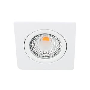 LED spot kantelbaar 5Watt vierkant WIT IP65 dimbaar D1-1