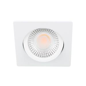 LED spot kantelbaar 5Watt vierkant WIT IP65 dimbaar D1-2