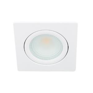 LED spot kantelbaar 5Watt vierkant WIT IP65 dimbaar D2-1