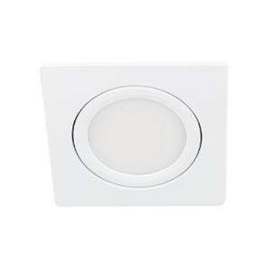 LED spot kantelbaar 5Watt vierkant WIT IP65 dimbaar D3-1