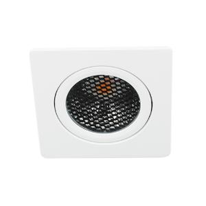 LED spot kantelbaar 5Watt vierkant WIT IP65 dimbaar D5-1