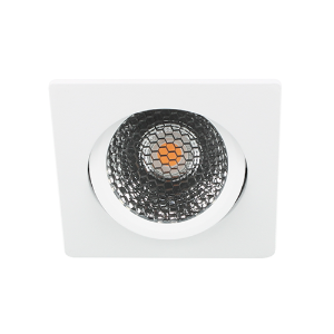 LED spot kantelbaar 5Watt vierkant WIT IP65 dimbaar D5-2