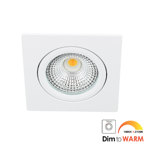 LED spot kantelbaar 5Watt vierkant WIT IP65 dimbaar DTW-1