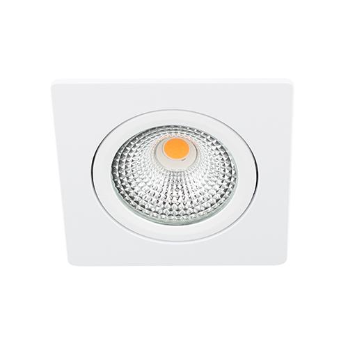 LED spot kantelbaar 5Watt vierkant WIT dimbaar D-1