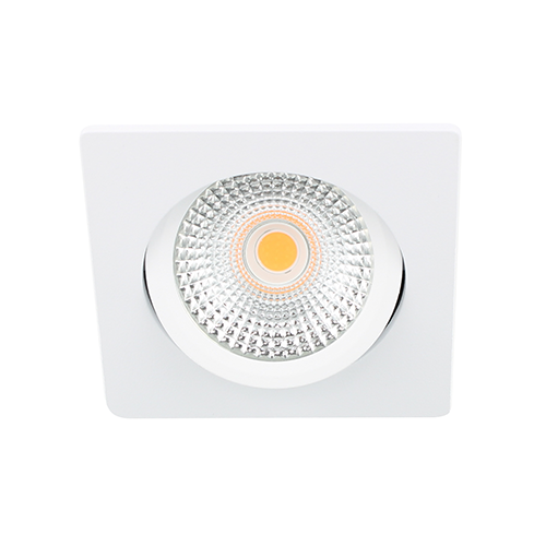 LED spot kantelbaar 5Watt vierkant WIT dimbaar D-2