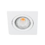 LED spot kantelbaar 5Watt vierkant WIT dimbaar D1-1