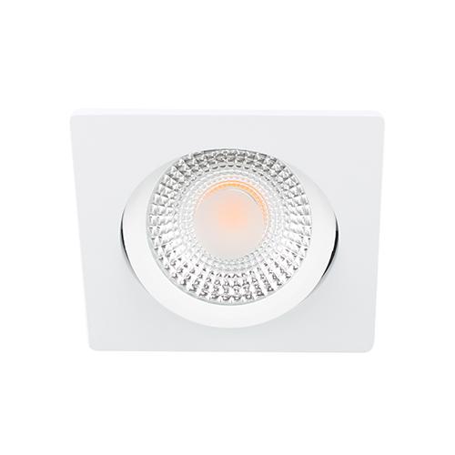 LED spot kantelbaar 5Watt vierkant WIT dimbaar D1-2
