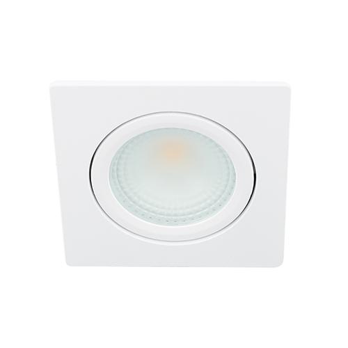 LED spot kantelbaar 5Watt vierkant WIT dimbaar D2-1
