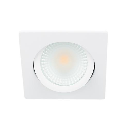 LED spot kantelbaar 5Watt vierkant WIT dimbaar D2-2