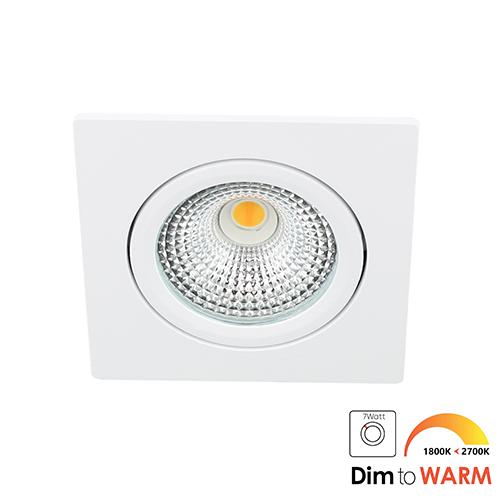 LED spot kantelbaar 5Watt vierkant WIT dimbaar DTW-1