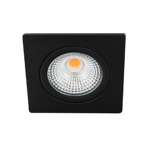 LED spot kantelbaar 5Watt vierkant ZWART IP65 dimbaar D-1