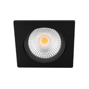 LED spot kantelbaar 5Watt vierkant ZWART IP65 dimbaar D-2