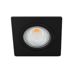 LED spot kantelbaar 5Watt vierkant ZWART IP65 dimbaar D1-1