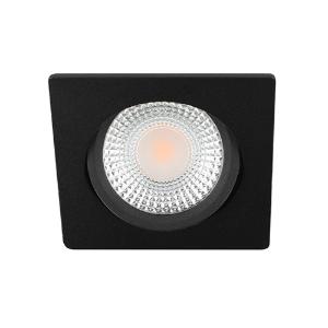 LED spot kantelbaar 5Watt vierkant ZWART IP65 dimbaar D1-2
