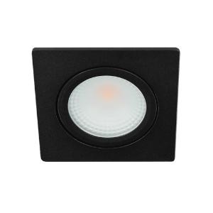 LED spot kantelbaar 5Watt vierkant ZWART IP65 dimbaar D2-1