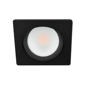LED spot kantelbaar 5Watt vierkant ZWART IP65 dimbaar D2-2