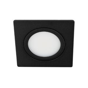 LED spot kantelbaar 5Watt vierkant ZWART IP65 dimbaar D3-1