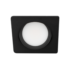 LED spot kantelbaar 5Watt vierkant ZWART IP65 dimbaar D3-2