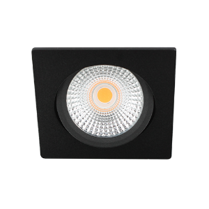 LED spot kantelbaar 5Watt vierkant ZWART dimbaar D-2