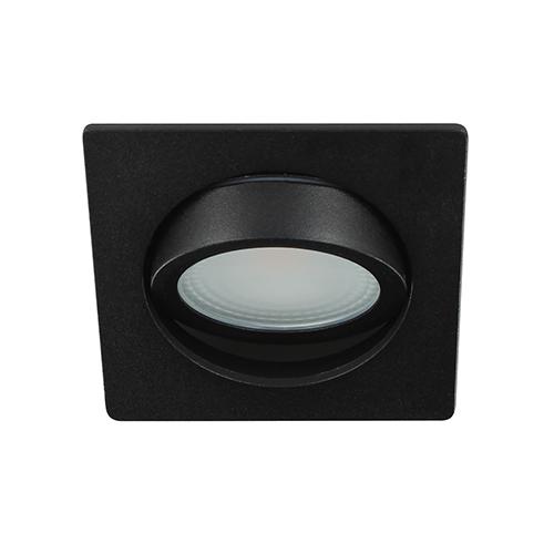 LED spot kantelbaar 5Watt vierkant ZWART dimbaar D2-3