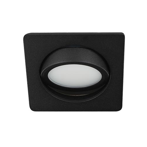 LED spot kantelbaar 5Watt vierkant ZWART dimbaar D3-3