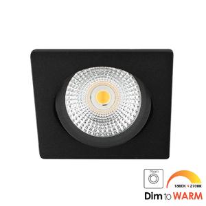 LED spot kantelbaar 5Watt vierkant ZWART dimbaar DTW-2